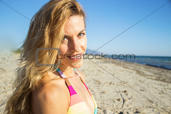 Summer woman portrait