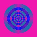 Blue Violet and Pink Target