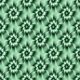 Teal Green Daisy Pattern
