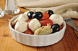 Mozzarella cheese and tomato salad