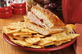 Turkey cheese sandwich