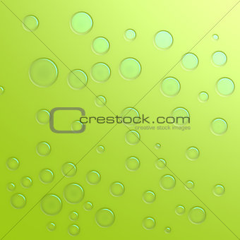 Green water droplet