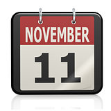 November 11, Veterans Day calendar
