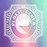 Public Cloud. Pastels Vintage Design Concept.