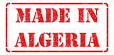 Made in Algeria - inscription on Red Rubber Stamp.