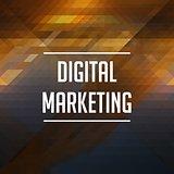 Digital Marketing Concept. Retro Label Design.