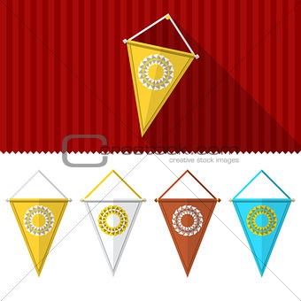 Flat illustration of triangular pennants