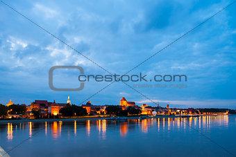 Old town of Torun at night, Kuyavia-Pomerania, Poland