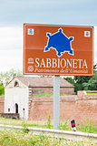 fortification of Sabbioneta city, Lombardy, Italy