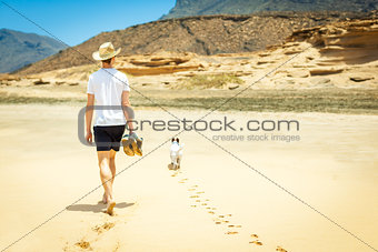 dog and owner alone