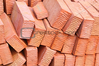 Background of red bricks