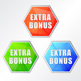 extra bonus, three colors hexagons labels