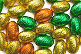 colorful chocolate eggs