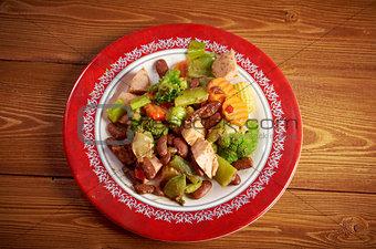 Cassoulet with pork sausage