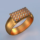 Jewelry diamonds ring