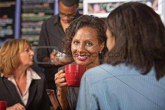 Glad Woman Drinking Tea