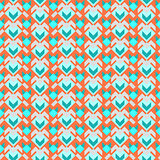 Seamless vector geometric  retro color pattern background