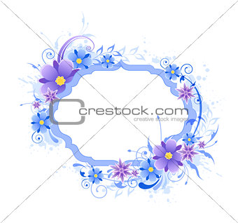 Background with blue and violet flowers