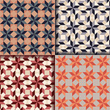 Retro geometric patterns background