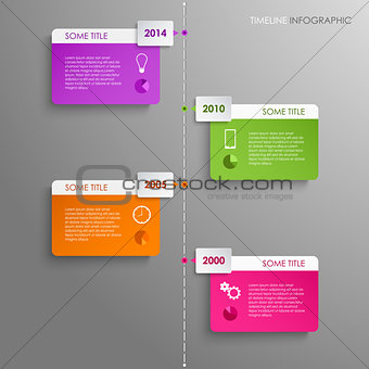 Time line info graphic template background