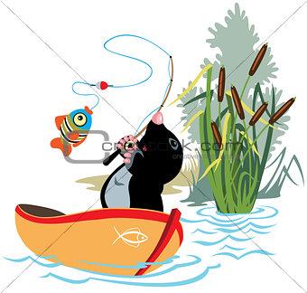fishing mole