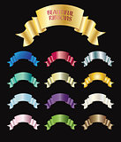 Collection of colorful ribbons