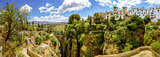 Ronda landscape panoramic view. A city in the Spanish autonomous