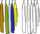 Clothing on Hangers