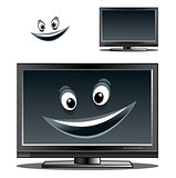Happy computer monitor or tv scren