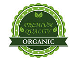 Organic Premium Quality label
