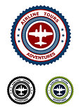 Airlines tour adventures symbol