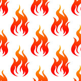 Leaping fiery flames seamless pattern