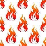 Leaping fiery flames seamless pattern