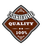 Premium Quality retro  label