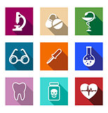 Set of colorful medical icons