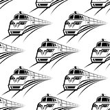 Modern train seamless pattern