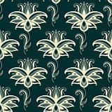 Persian paisley floral seamless pattern