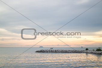 Beautiful sunset view of sea