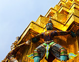 Guardian of Wat Pra Kaew Grand Palace ,Bangkok ,Thailand.