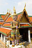 Guardian Statue at Wat Phra Kaew Grand Palace Bangkok,Thailand.