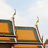 Unique rooftop of Thailand temple.