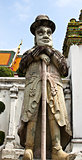 Statue of Man at Wat Pho in Bangkok, Thailand.