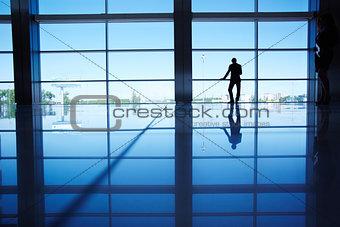 Businessman by the window