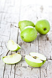 ripe green apples