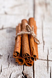 stack of cinnamon sticks
