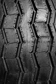 Car tire texture close up