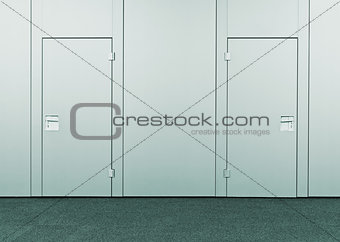 Closed conference room door