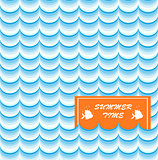 Summer Card Print vector art illustration cut