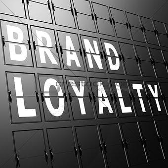Airport display brand Loyalty