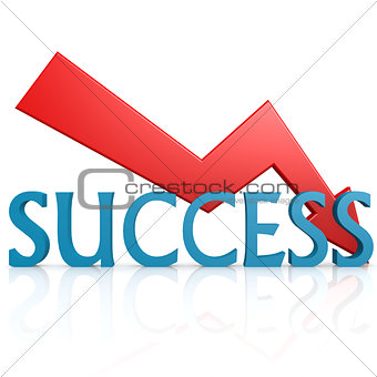 Arrow down success
